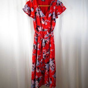 MODCLOTH Fits Of Bliss Red Floral Dress Size S